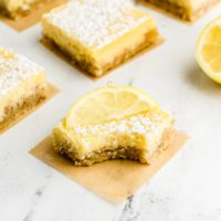 Keto Lemon Bars with Shortbread Crust