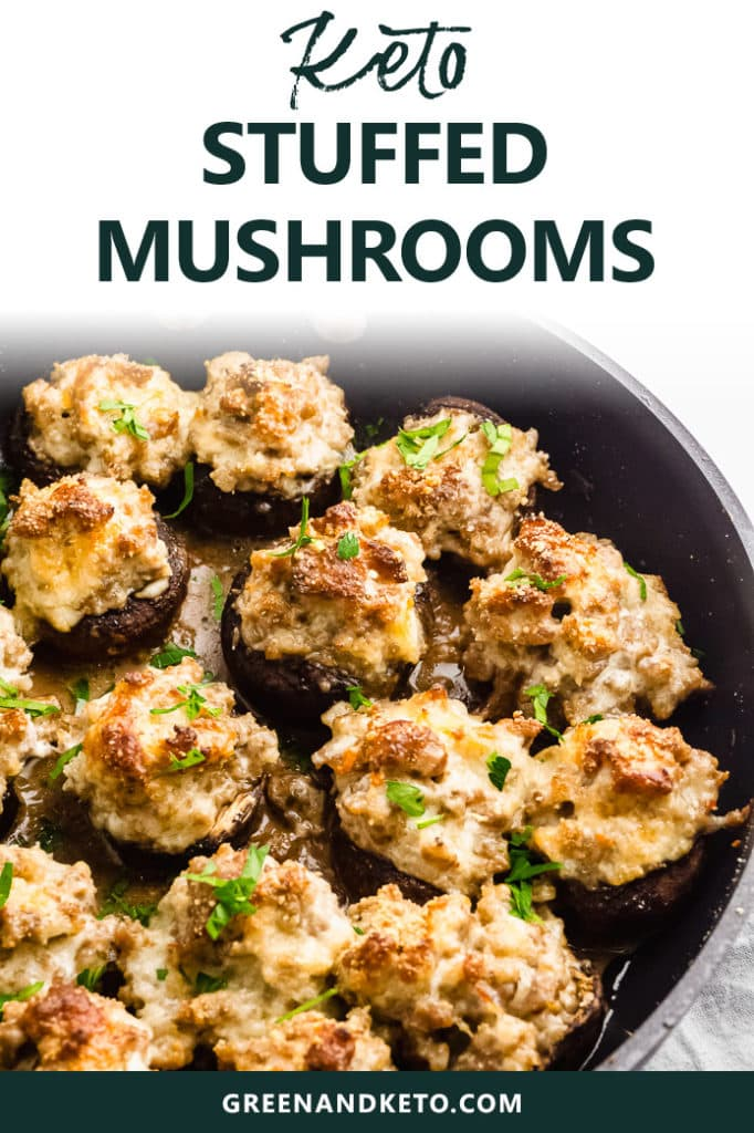 Keto Stuffed Mushrooms with Sausage