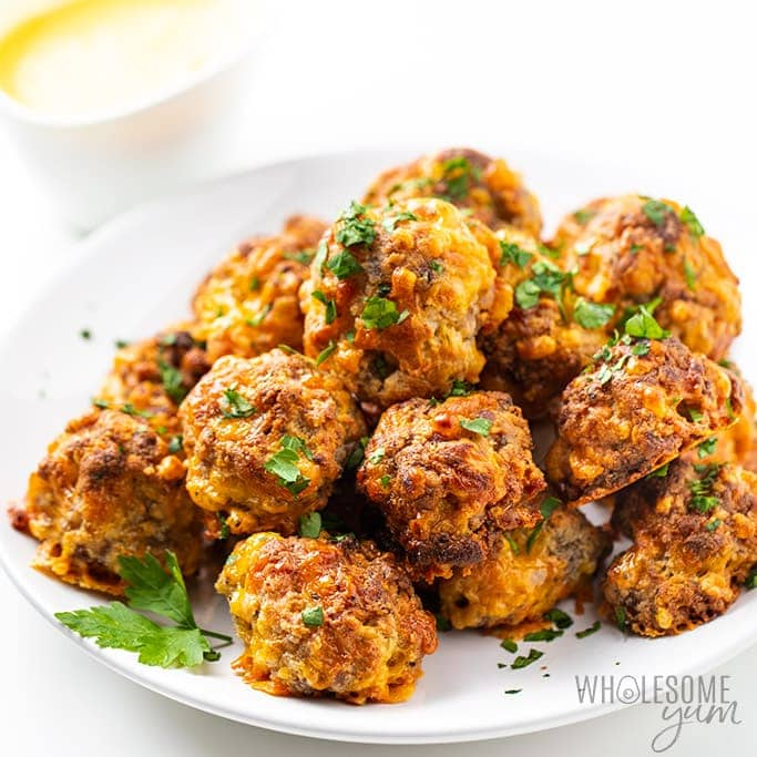 Low Carb Keto Sausage Balls Recipe With Cream Cheese