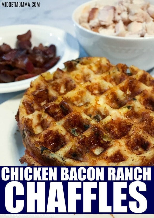 Chicken Bacon Ranch Chaffle