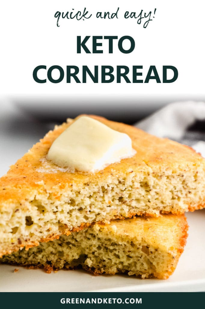 Keto Cornbread – Low Carb and Gluten Free