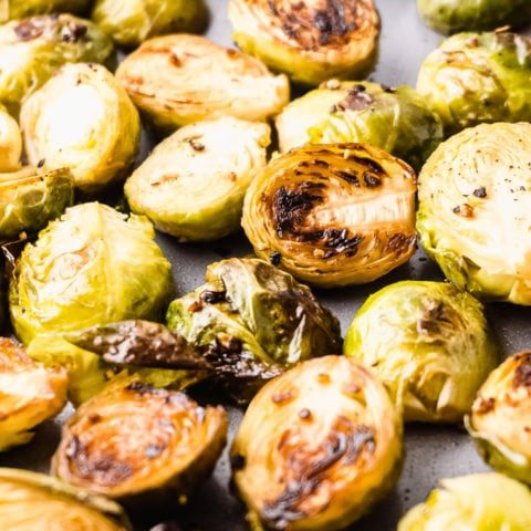 Easy Oven Roasted Brussels Sprouts - Keto Friendly