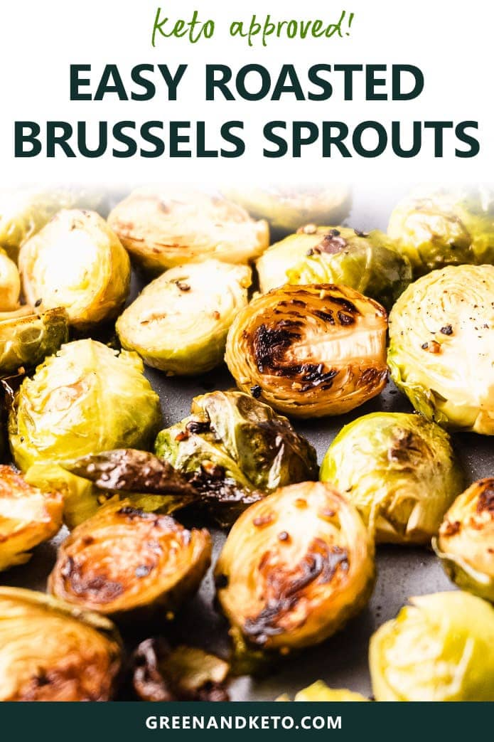 Keto Roasted Brussels Sprouts are quick and easy low-carb veggie side dish. Bake brussel sprouts in the oven with balsamic, garlic, and parmesan.
