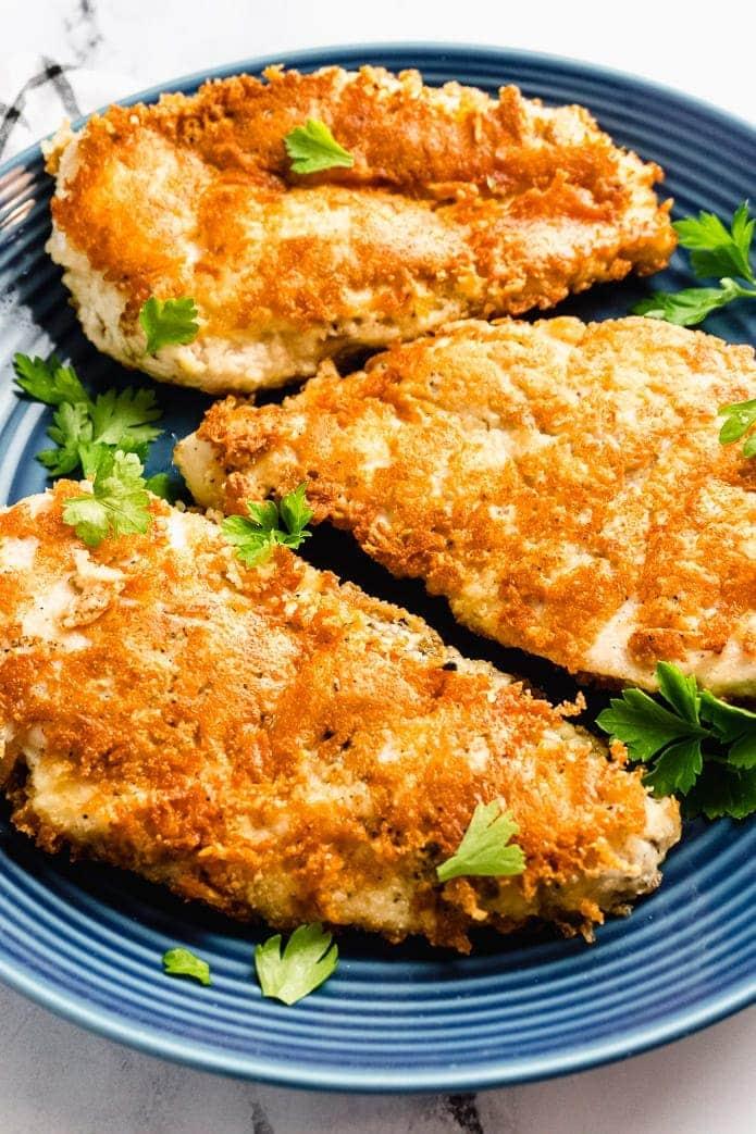 paremsan cheese crust chicken breast cutlets