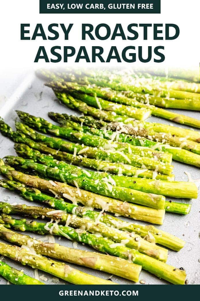 Oven Roasted Asparagus is an easy, healthy, keto vegetable dinner recipe.  Flavor with garlic, balsamic, and garlic for a quick, delicious low-carb side dish.