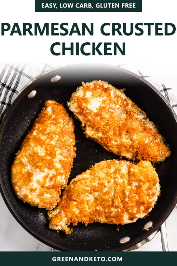 Keto Parmesan Crusted Chicken Breasts