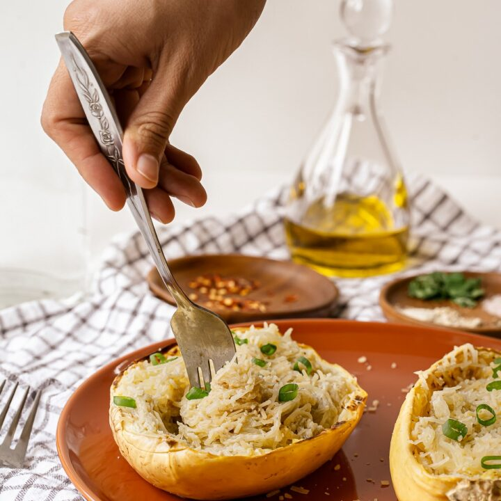 Alfredo Spaghetti Squash