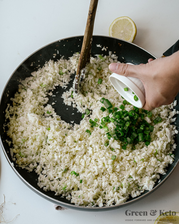 cooking cauliflower rice