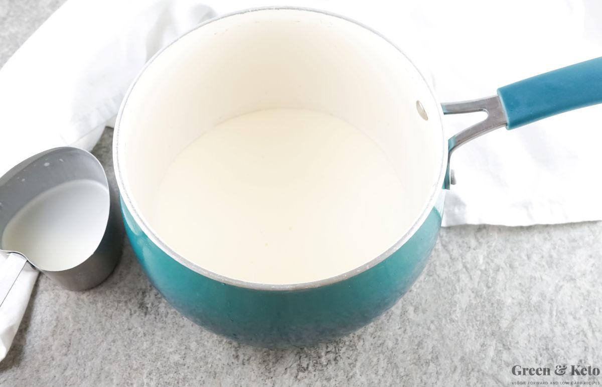 Homemade sugar free sweetened condensed milk