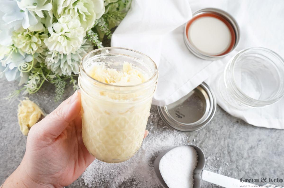 Homemade keto sweetened condensed milk